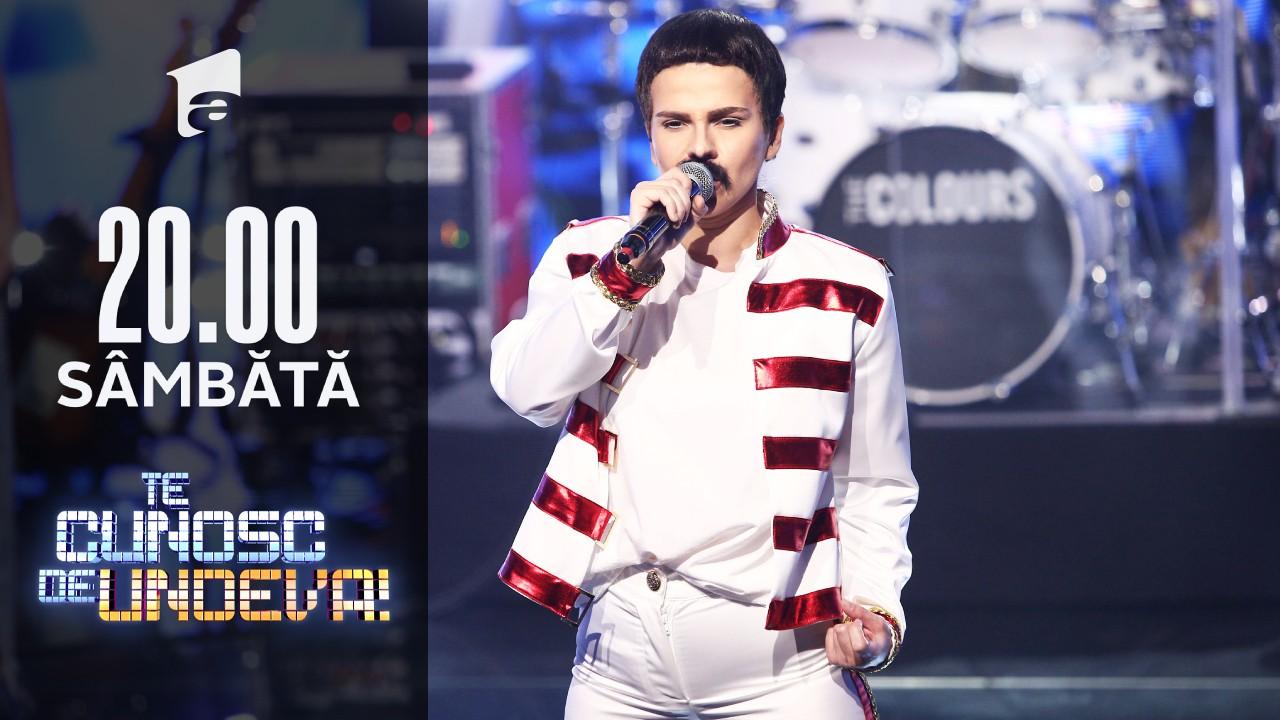 """Cristina Vasiu se transformă în Freddie Mercury - """"The Show Must Go On"""", la Te cunosc de undeva!"""
