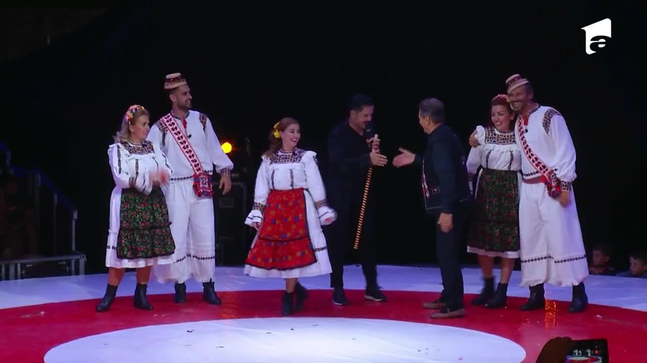 Poftiți la circ, 23 februarie 2021. Nea Marin, pentru prima dată pe scenă alături de fiice și nepot. Ce show spectaculos au făcut
