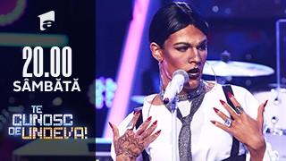 """Radu Ştefan Bănică se transformă în Rihanna - """"Love on the brain"""", la Te cunosc de undeva!"""
