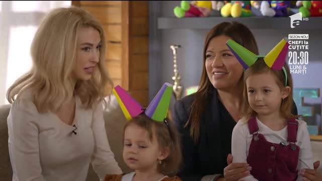 Andreea Bălan și fetițele sale fac o vizită în casa Zurli