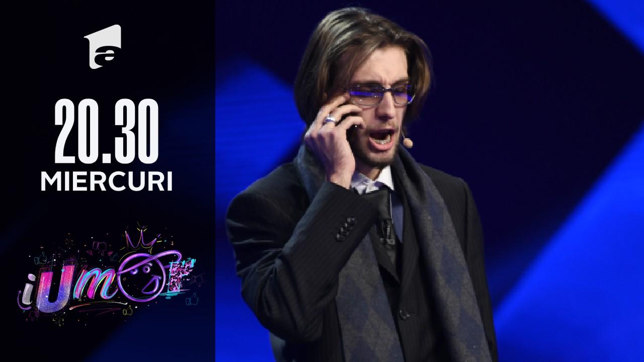 """Spectacol la iUmor: Luca Nicola l-a adus pe scenă pe Vadim Tudor: """"Băi, femeie, pe tine nu te bat nici pantofii!"""""""