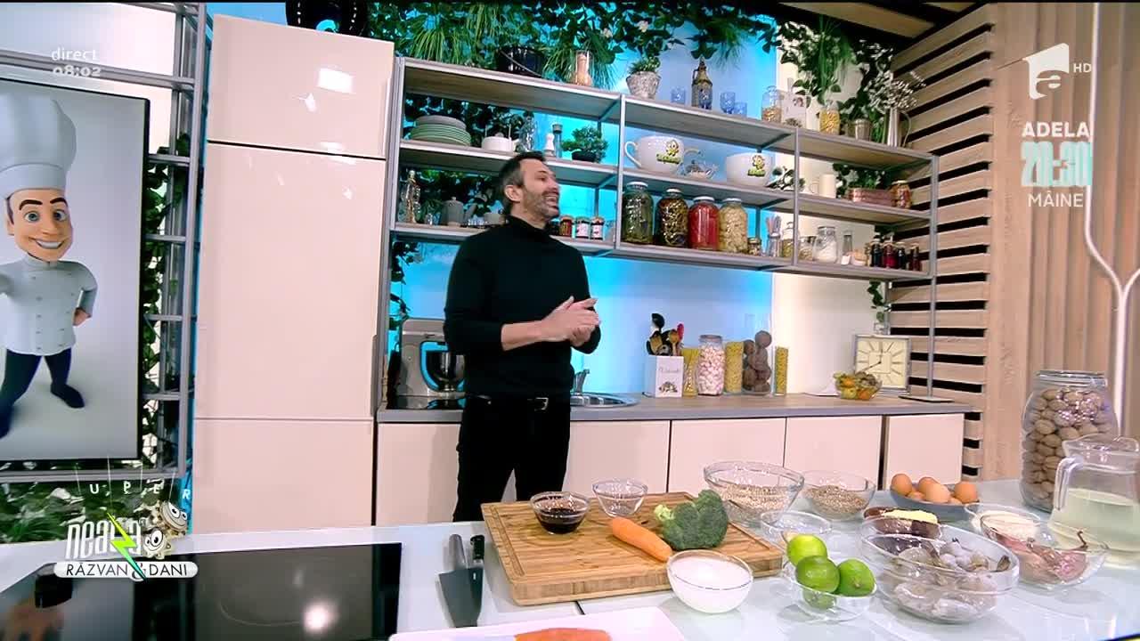 Salată de linte și risotto de arpacaș, rețetele de la Neatza a lui chef Nicolai Tand