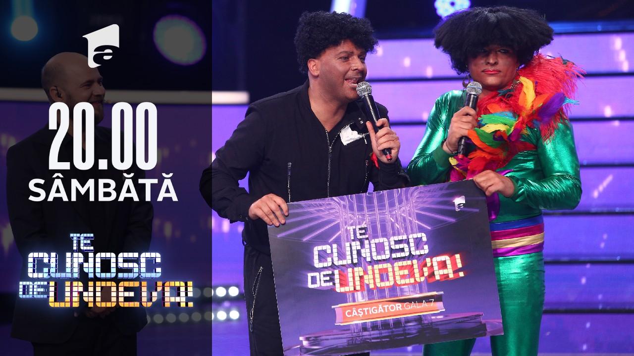 """Liviu Vârciu și Andrei Ștefănescu au câștigat a șaptea ediție a sezonului 16 """"Te cunosc de undeva!"""""""