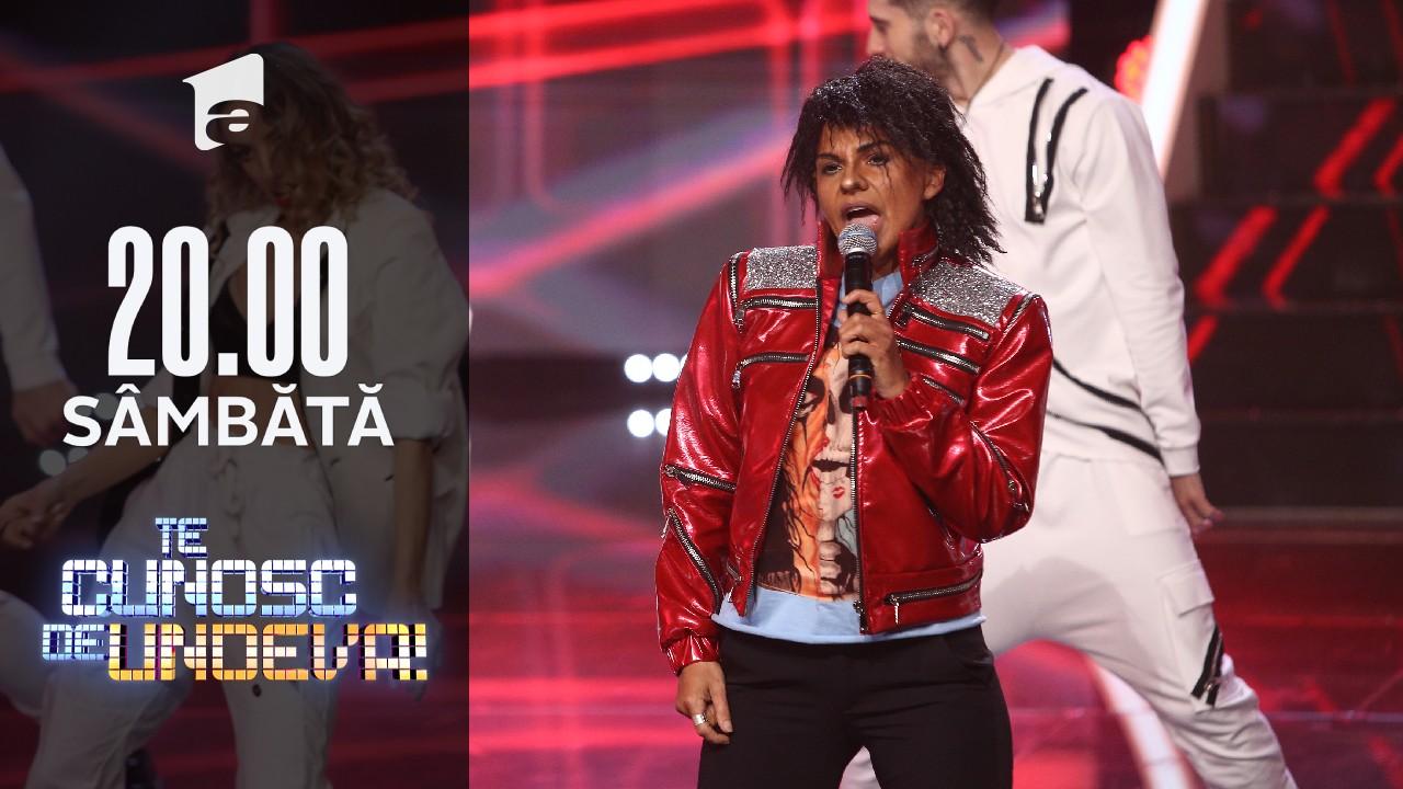 """Cristina Vasiu se transformă în Michael Jackson - """"Beat it"""", la Te cunosc de undeva!"""