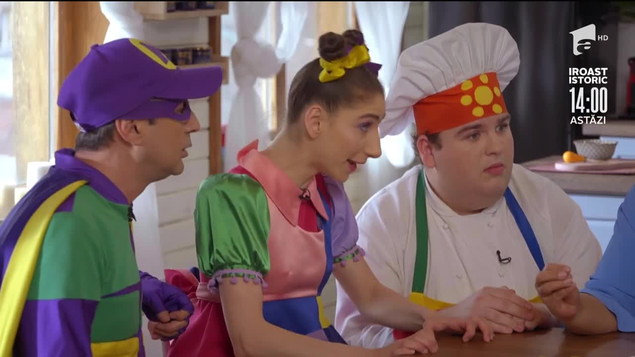 Fetița Zurli este certată de Tanti Prezentatoarea pentru că se poartă ca Tura Vura