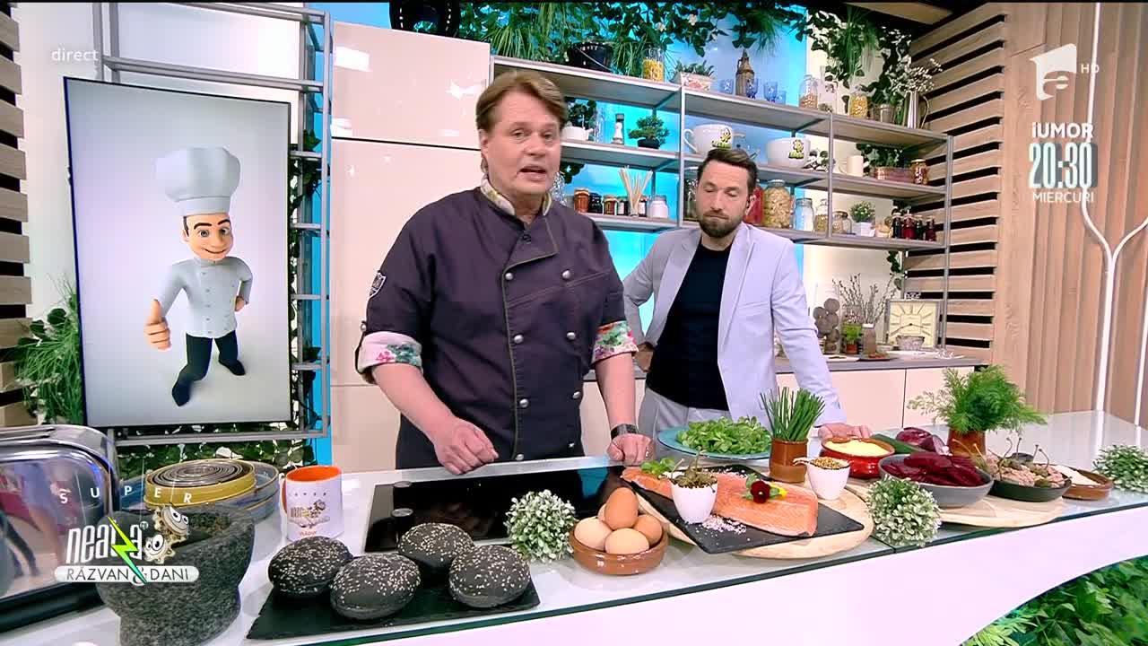 Burger de somon cu sos bronze, rețeta lui Vlăduț de la Neatza cu Răzvan şi Dani