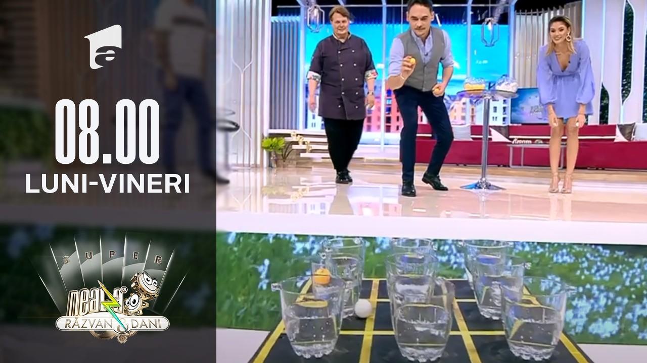 Jocul X și 0 cu bile de ping-pong! Super provocare, la Super Neatza
