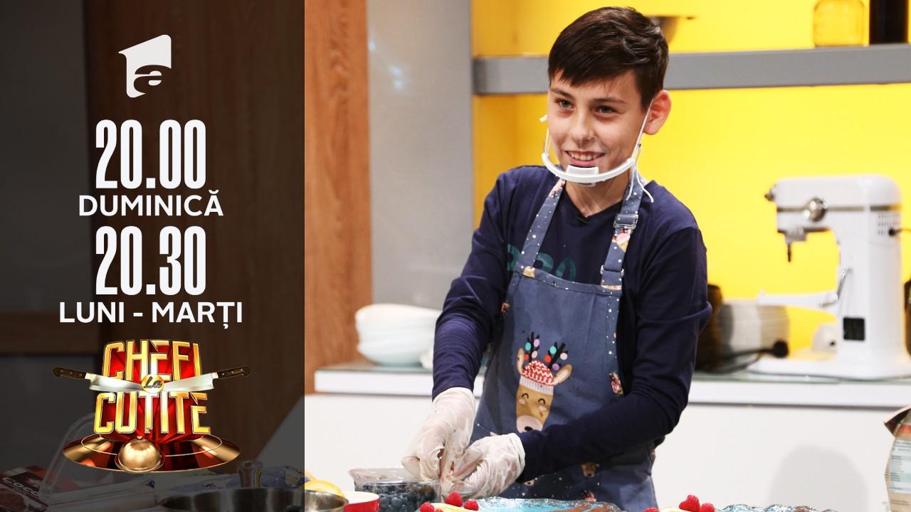 Luca Lazarof a gătit cu patru degete la Chefi la cuțite