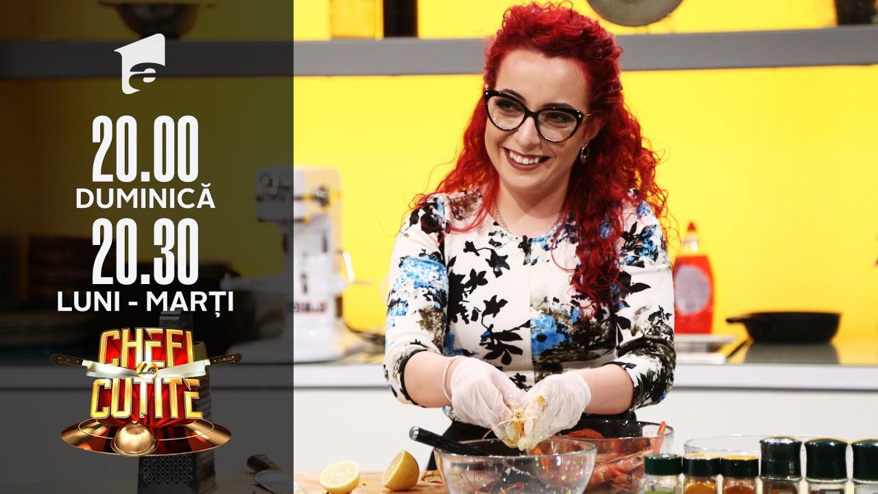 """Rossana Tedeschi gătește o rețeta italiană la Chefi la cuțite: """"Vreau cuțitele"""""""