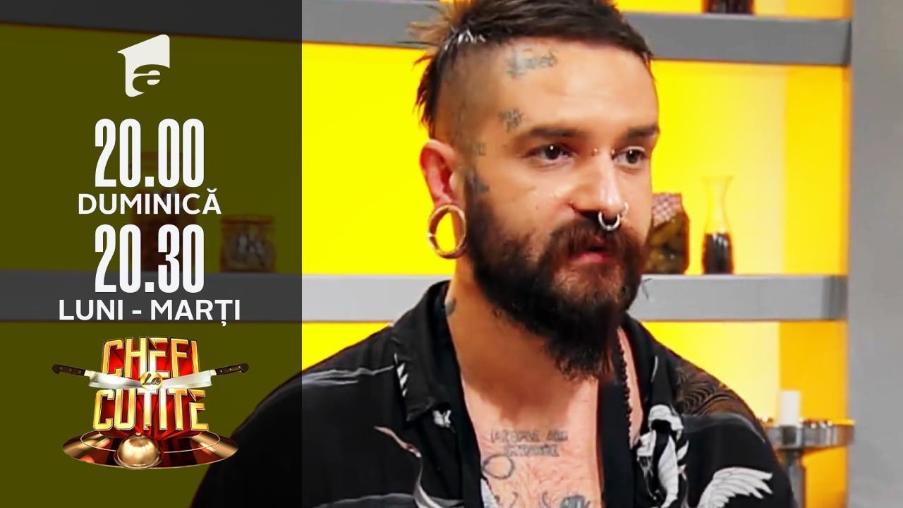 """Din studioul de videochat, la Chefi la cuțite! George Petcu: """"Mă ocup de părul fetelor"""""""