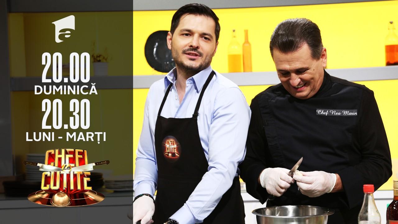 Liviu Vârciu și nea Marin au gătit la Chefi la cuțite
