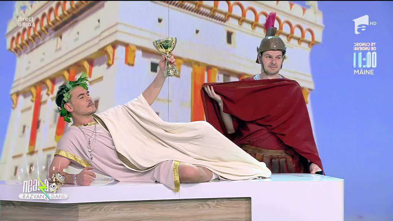 Răzvan Simion, intrare demnă de un împărat roman! Moment super amuzant