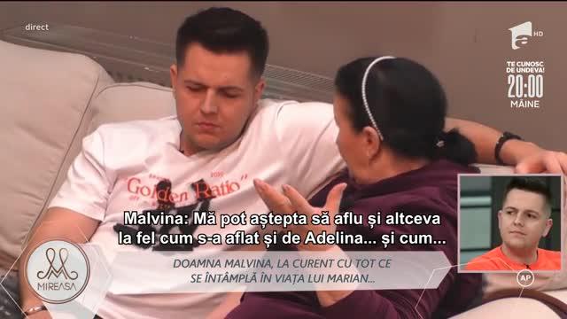 Doamna Malvina, despre relația lui Marian cu Andreea: A făcut exact invers. Nu mai am încredere în ce spune