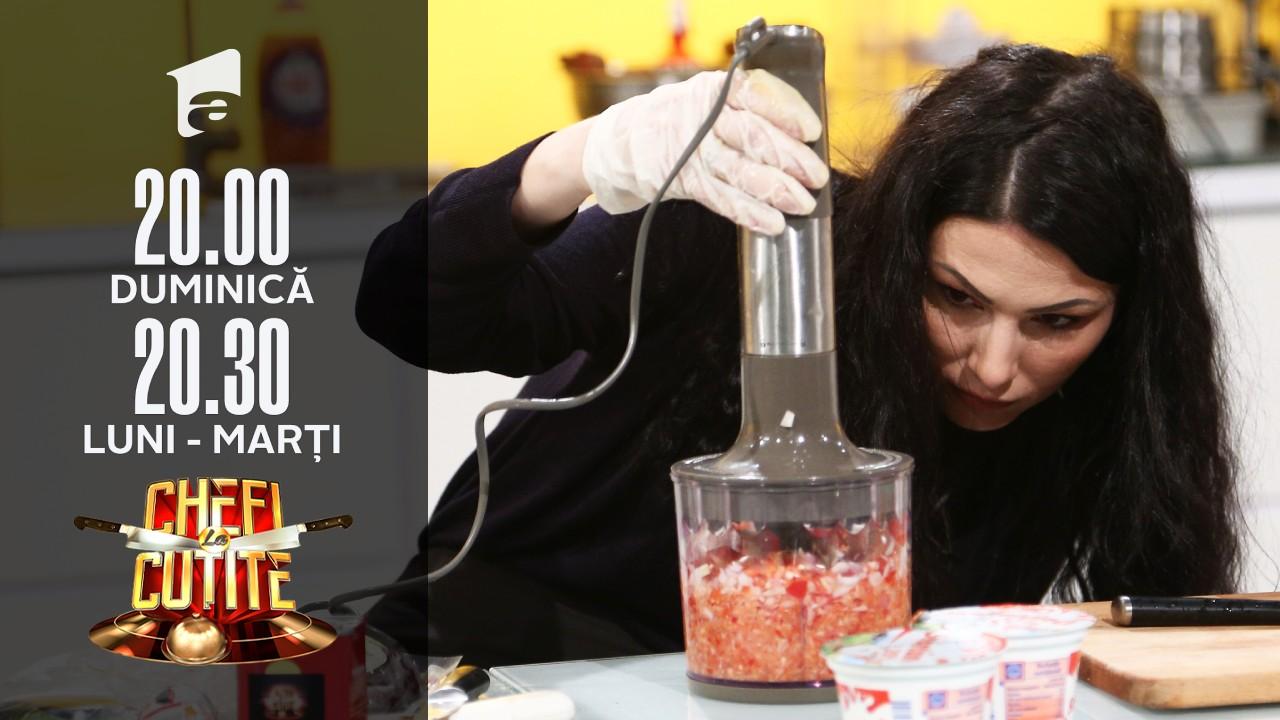 """Ana Maria Alexandra Anthon gătește la Chefi la cuțite: """"Am venit să-mi fac un selfie"""""""