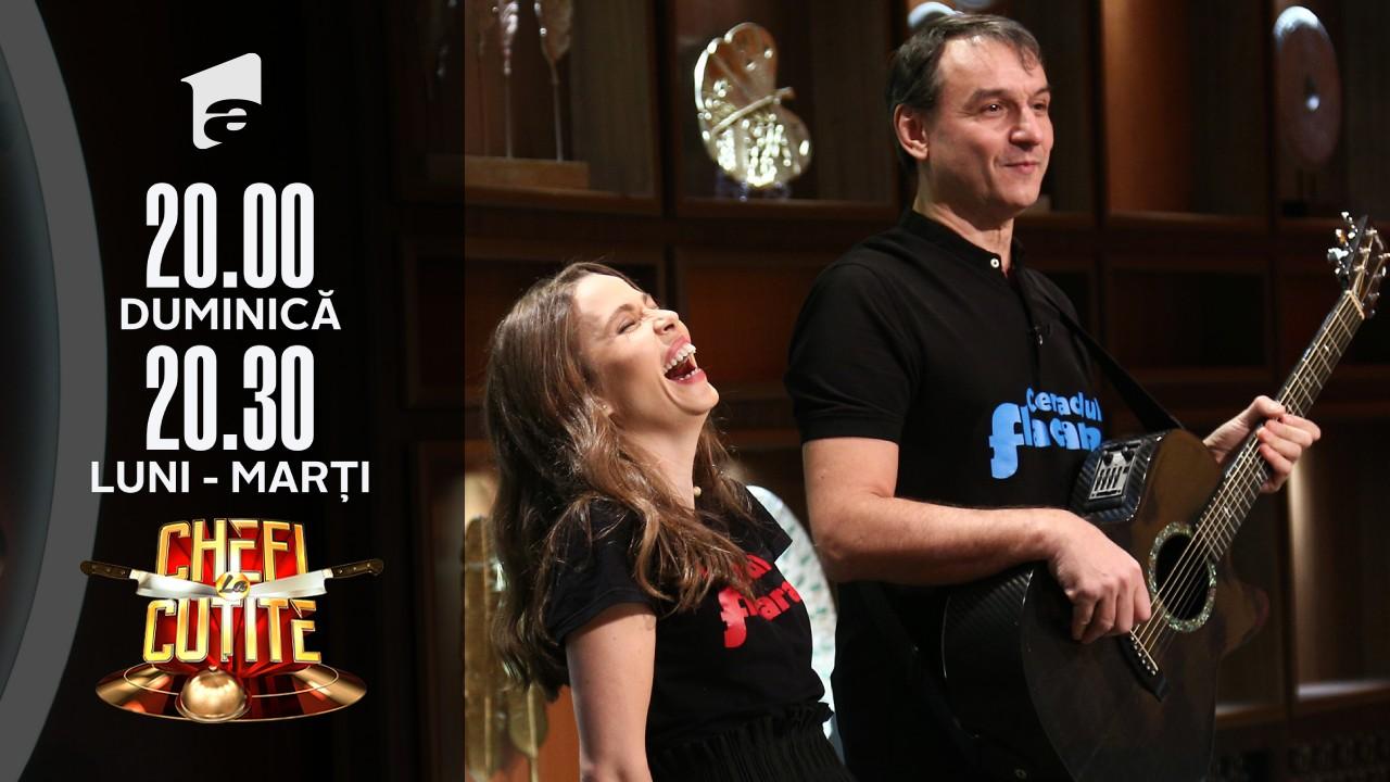 Andrei Păunescu și Maria Măgirescu gătesc la Chefi la cuțite