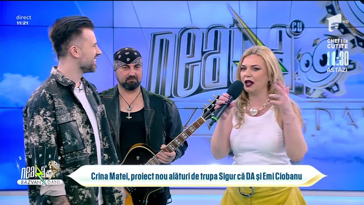 Crina Matei, proiect nou alături de trupa Sigur că DA și Emi Ciobanu