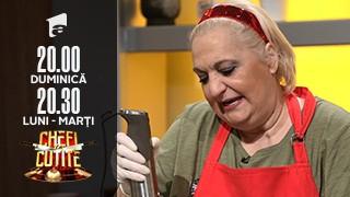 Actrița Marinela Chelaru gătește la Chefi la cuțite: M-am făcut frumoasă pentru Scărlătescu