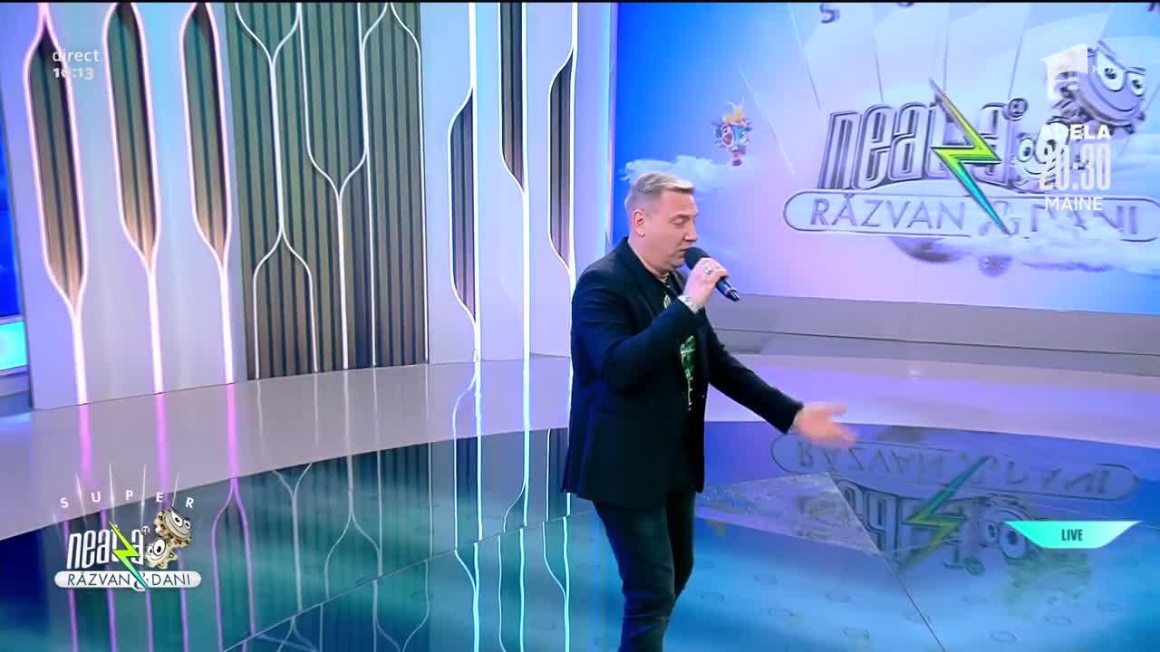 Giorgio Ciabattoni cântă piesa L'italiano, la Neatza cu Răzvan și Dani