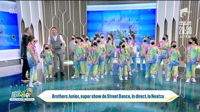 Brothers Junior, super show de Street Dance, în direct, Neatza cu Răzvan și Dani