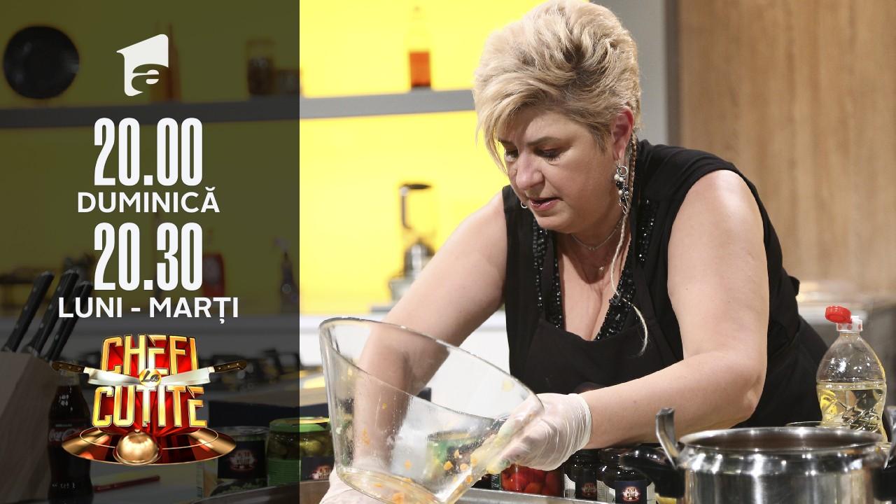 Valentina Oprina i-a surprins pe jurați. Chef Bontea: Nici salată de boeuf nu mai este ce a fost odată. Are mere vezi!