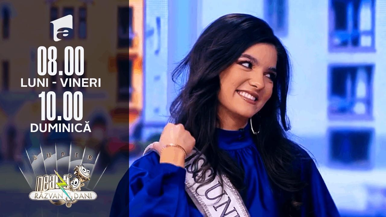 Bianca Tirsin, Miss Universe România 2020, în direct, la Super Neatza