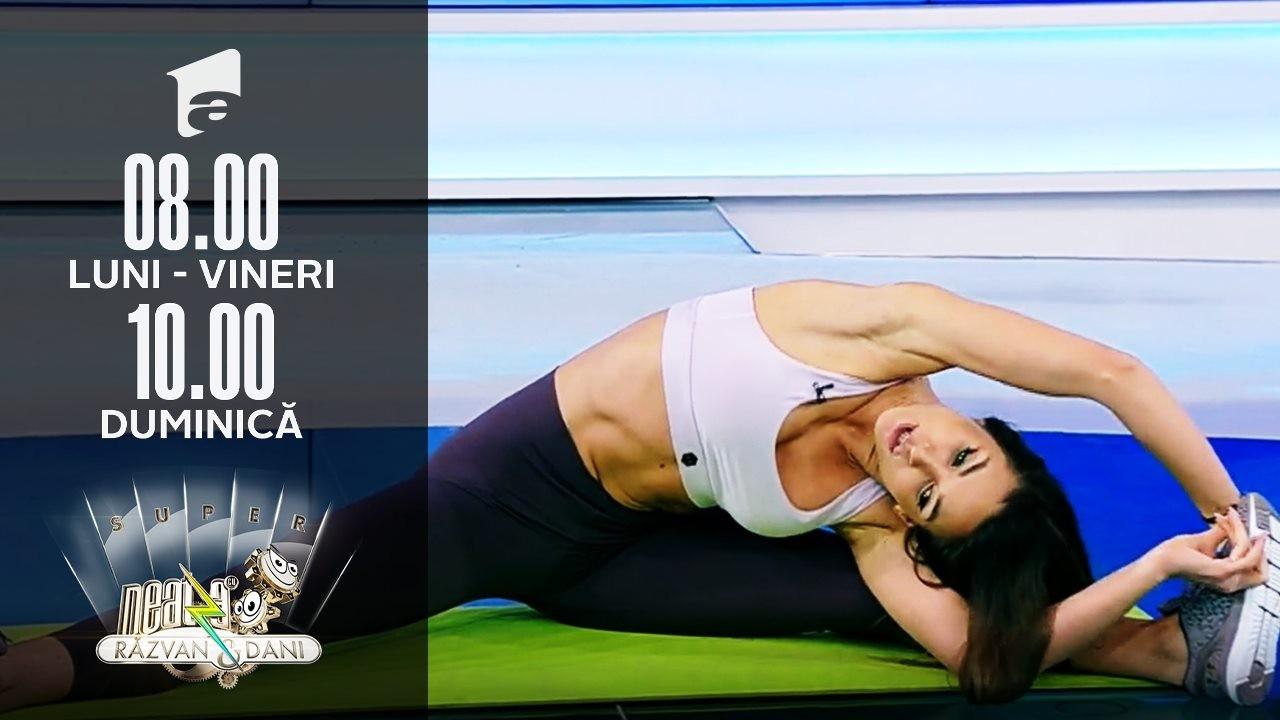 Antrenament pentru o energie bună toată ziua. Fitness cu Diana Stejereanu