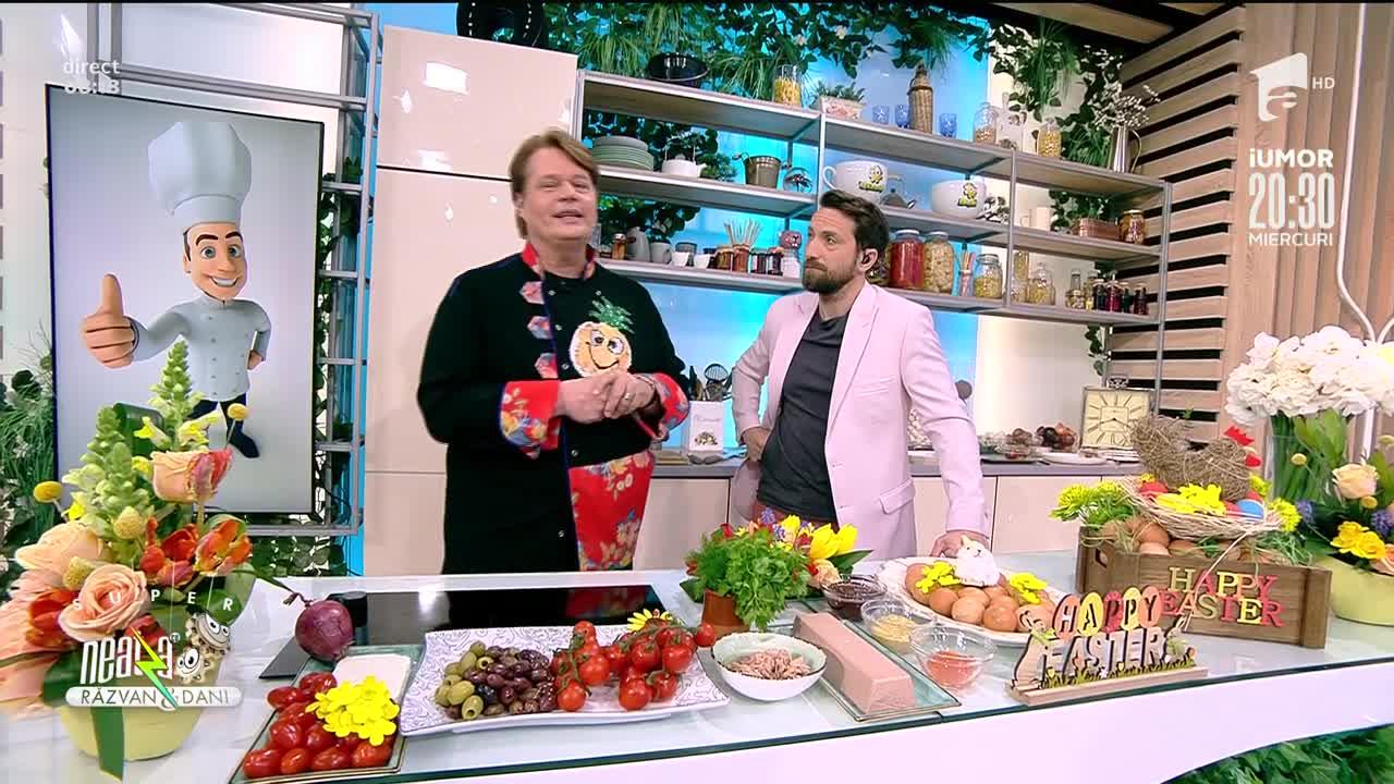 Berbecuț cu salată de crudități și Trufe Pascale, propunerea lui Vlăduț pentru masa de Paște