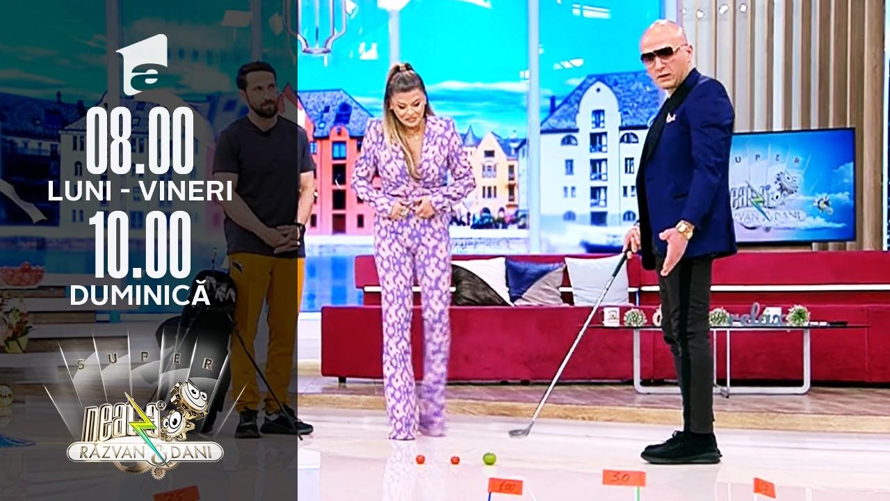 Golf cu ouă! Loredana și Costi Ioniță, super provocare la Neatza!
