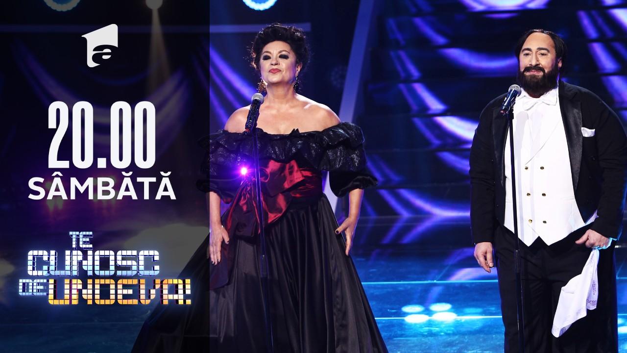 Adriana Trandafir și Romică Ţociu s-au transformat în Leontina Văduva & Luciano Pavarotti - La Traviata - Brindisi