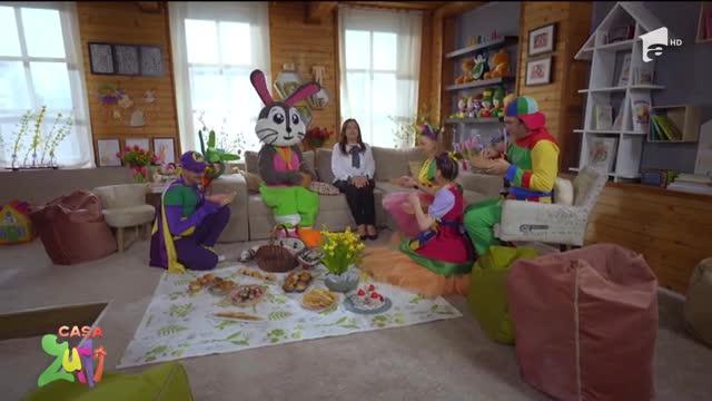 Vânătoarea de ouă de Paște. Iepurașul de Paște vizitează Casa Zurli!