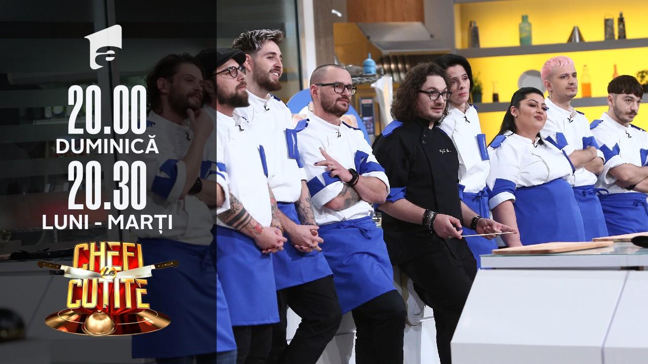 Sosuri, prima temă din noul sezon Chefi la cuțite!