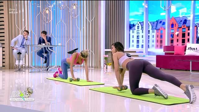 Antrenament după Paște. Fitness cu Diana Stejereanu