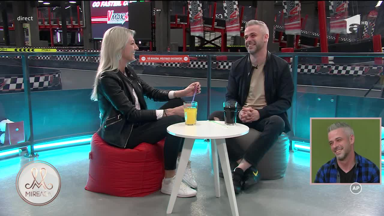 Bogdan și Ana au avut parte de un super date pe o pistă de karting