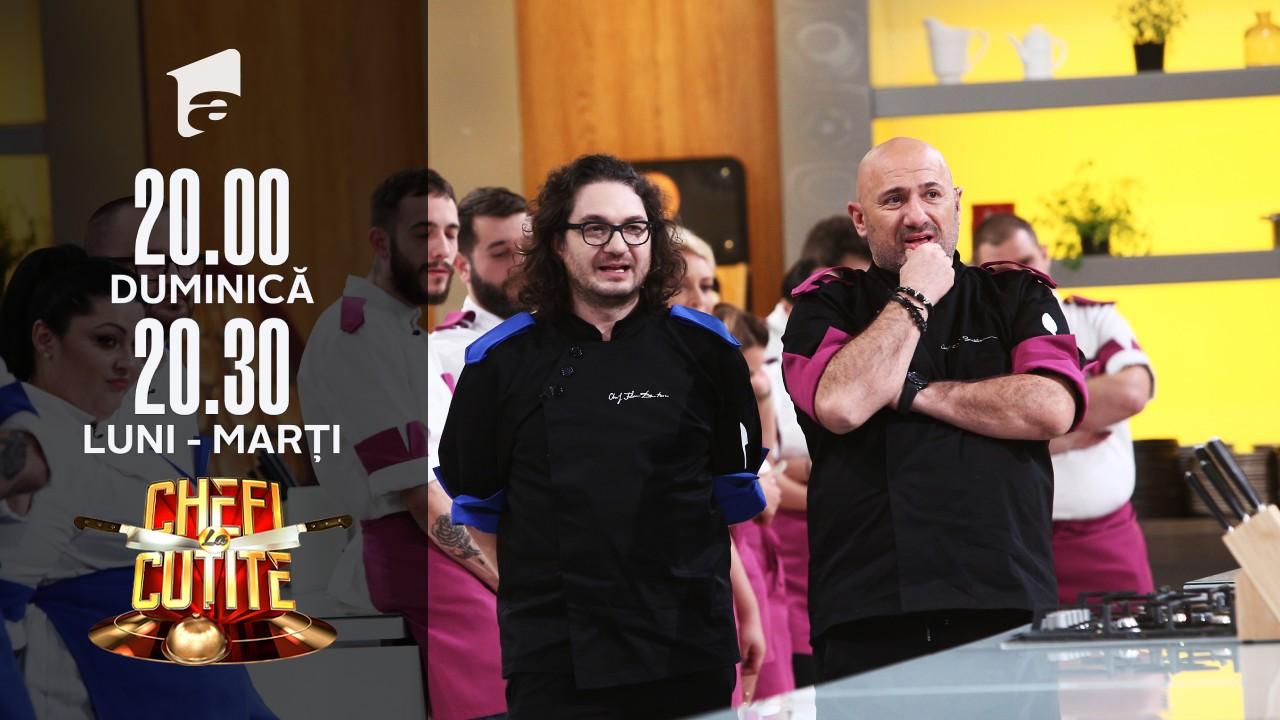 """Chef Cătălin şi Chef Florin şi-au desemnat concurenţii de la proba individuală! Andra: """"Să mă pui la duel cu rechinii ăştia?"""""""