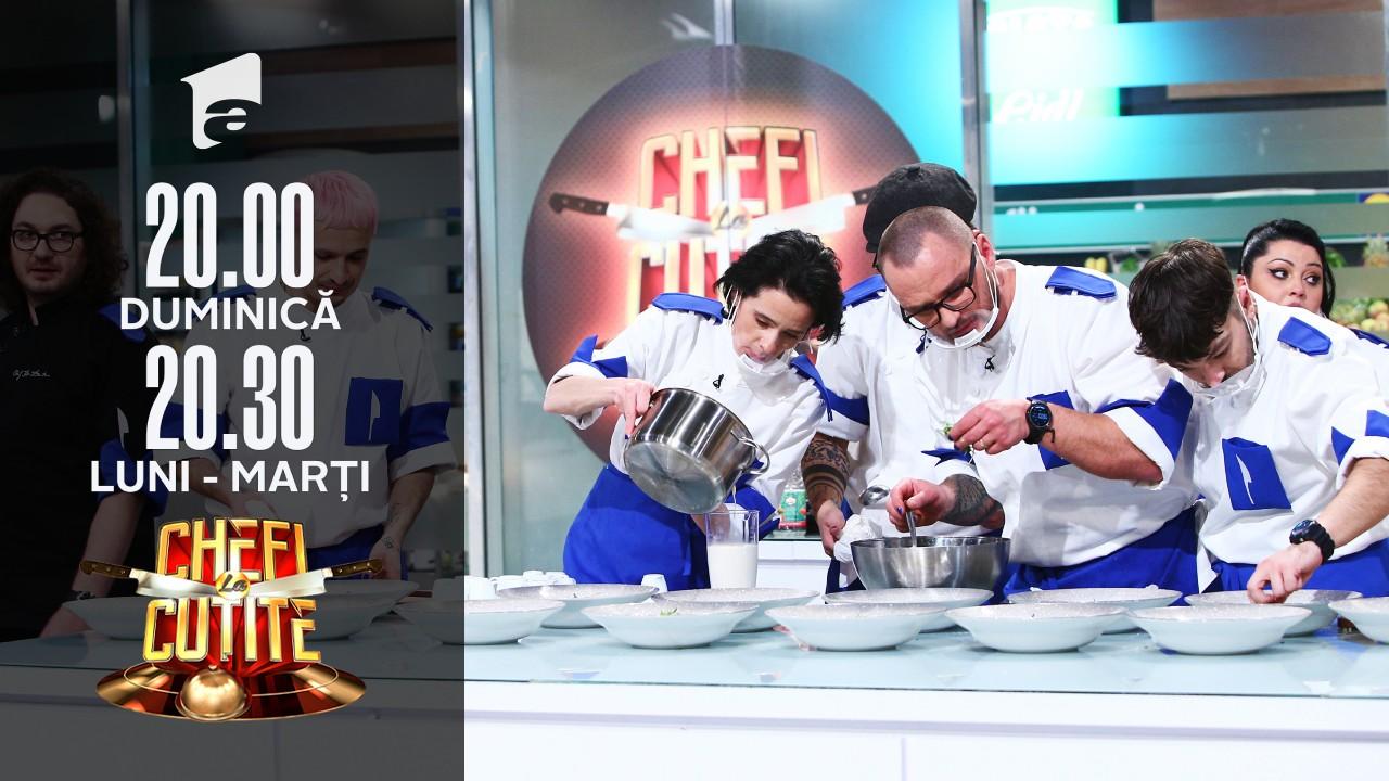 """După Chef Bontea, nici Chef Dumitrescu n-a scăpat de """"atacul"""" cu Chef Scărlătescu: """"Vi-l dau în echipă. Vi-l fac cadou!"""