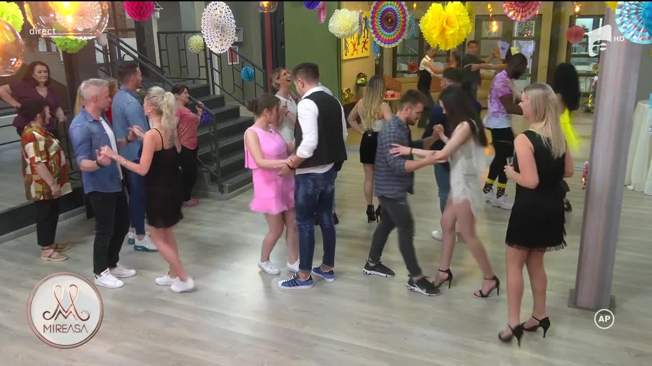 Concurs de dans cu tematică latino în casa Mireasa! Alina și Radu au ieșit câștigători!