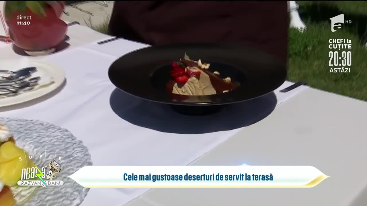 Cele mai gustoase deserturi de servit la terasă