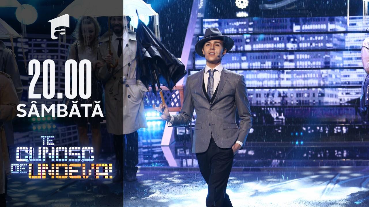 În marea finală, Radu Ştefan Bănică se transformă în Gene Kelly - Singing in the rain