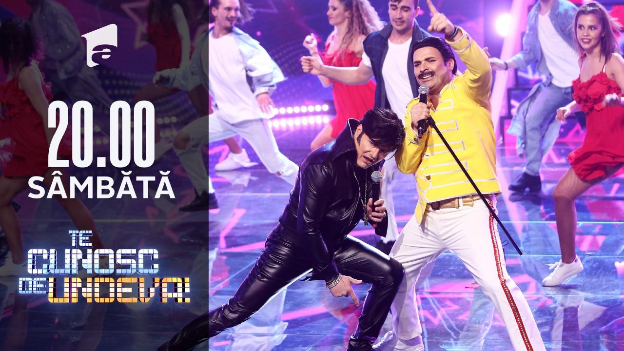 În marea finală, Liviu Vârciu și Andrei Ștefănescu s-au transformat în Freddie Mercury și Elvis Presley - Jail House Rock