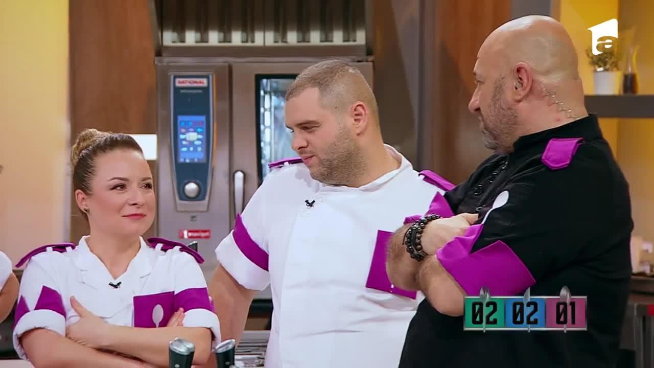 """Echipa albastră a câştigat battle-ul 6 detaşat! Chef Scărlătescu: """"Nu aveai cum să-l baţi p-ăsta!"""""""