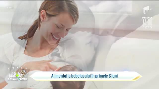 Totul despre alimentația bebelușilor în primele șase luni de viață