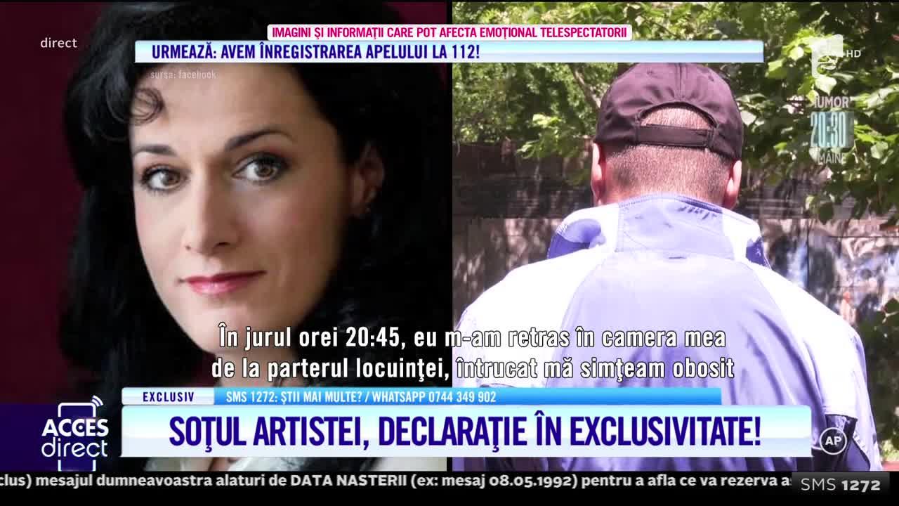 Soţul Mezzosopranei Măria Macsim Nicoară, declarații în exclusivitate: Soţia mea era semiinconştientă