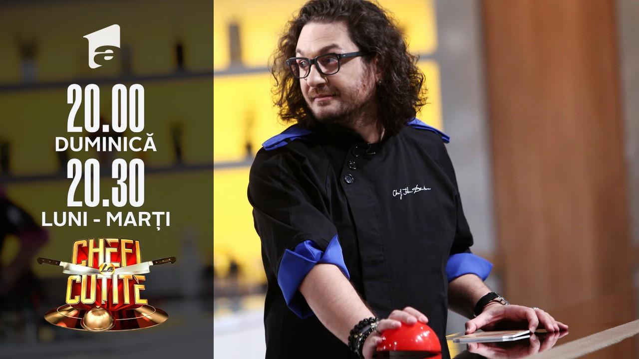 Chef Florin Dumitrescu a folosit o nouă amuletă! Echipa verde va avea un timp mai redus pentru gătit!