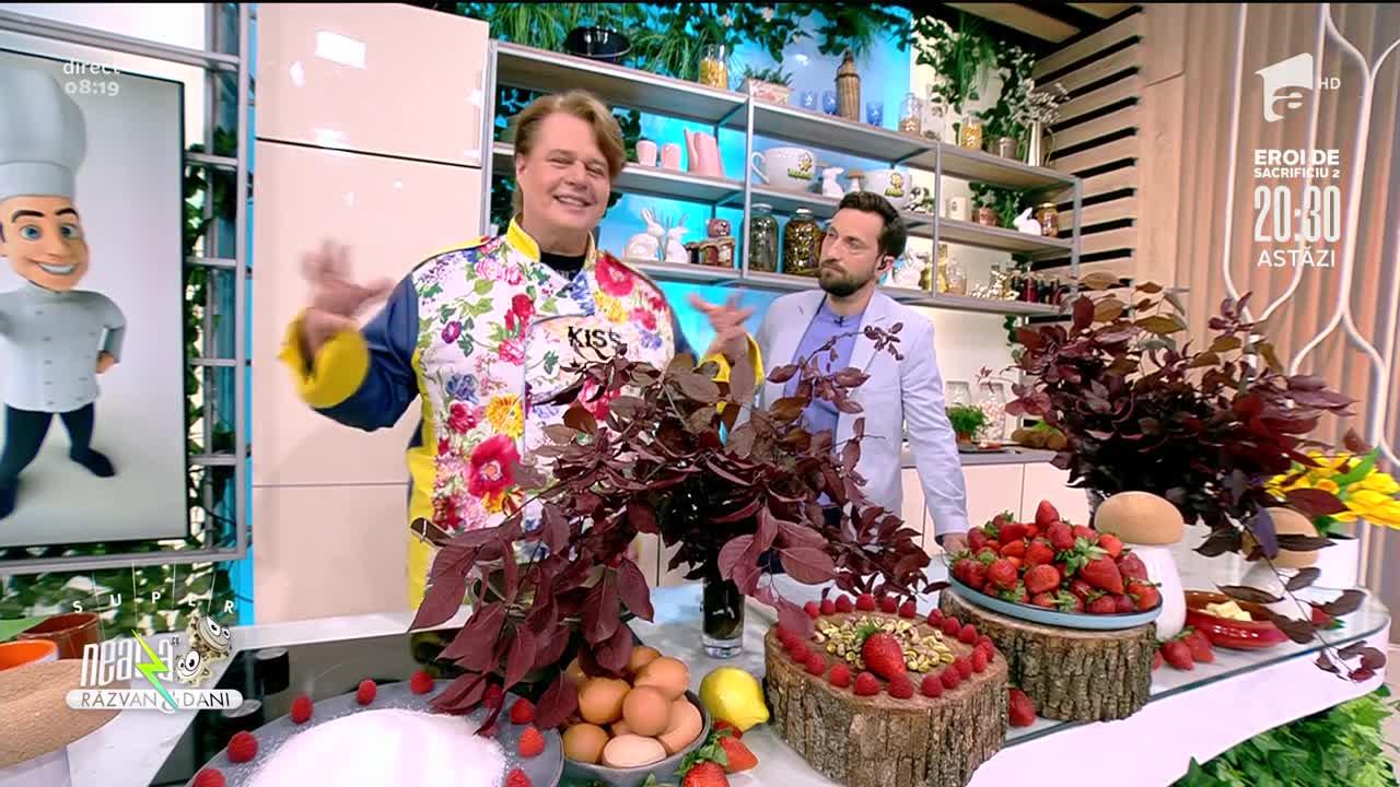Coșulețe cu spumă de căpșuni, rețeta lui Vlăduț de la Neatza cu Răzvan și Dani