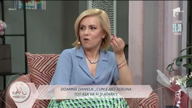 Doamna Daniela nu vrea sub nicio formă să o accepte pe Adelina în viaţa fiului ei!