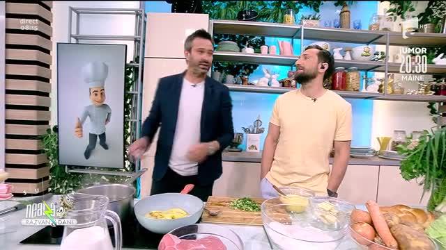 """Reţeta de azi de la Neatza: Nicolai Tand a gătit """"Pită umplută"""""""