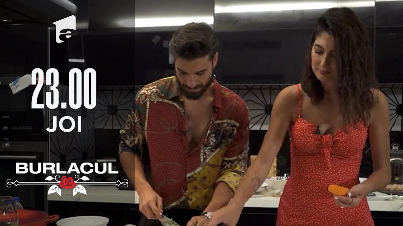 Melissa are parte de o cină romantică cu Burlacul! Andi Constantin îi gătește concurentei