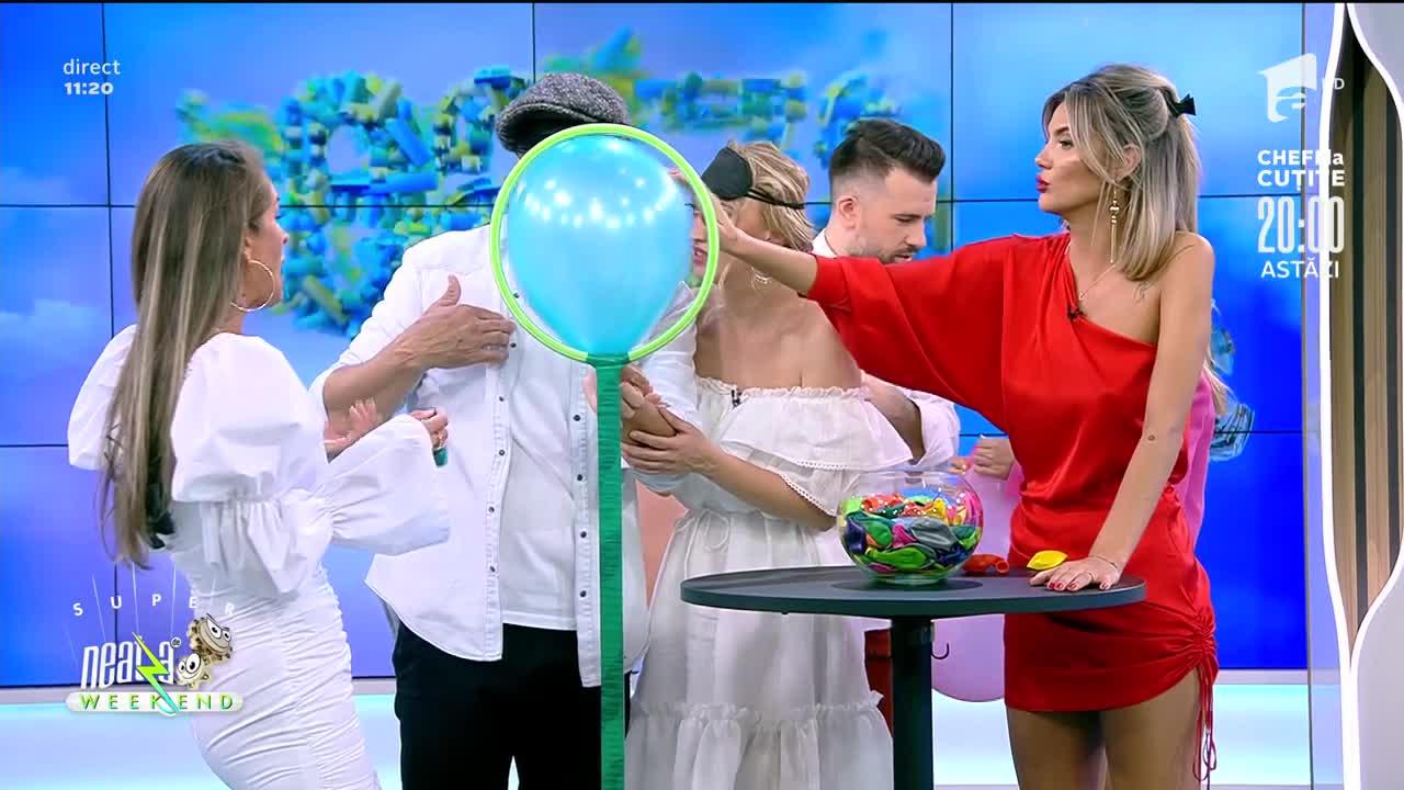 Ana Baniciu, Adda și Cătălin Rizea, la jocul cu baloane. Cine a câștigat întrecerea amuzantă