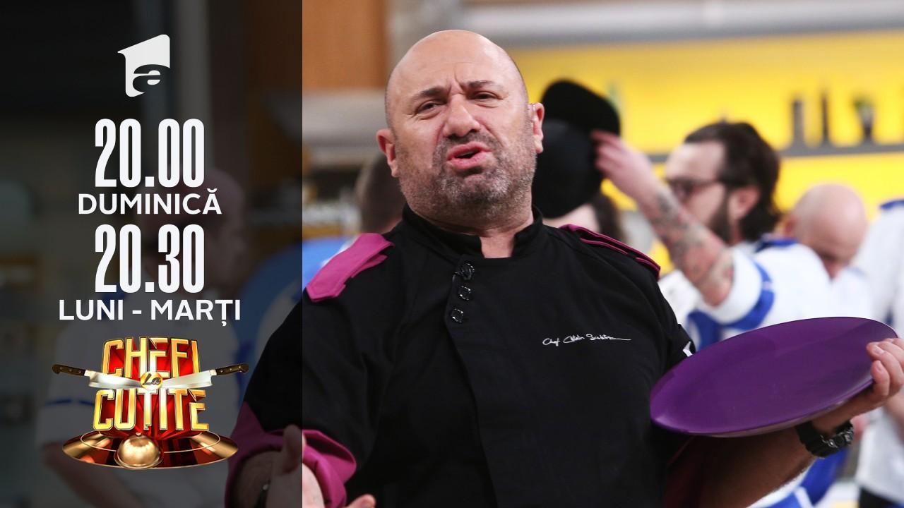 Premieră la Chefi la cuţite! Chef Scărlătescu, şocat de ce a apărut pe tabela de scor