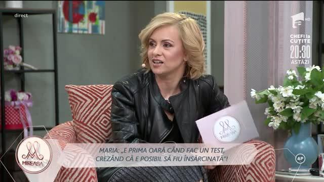 Știrea este infirmată, Maria nu este însărcinată: E prima oară când fac un test de sarcină!